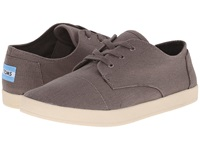 Toms Paseo Ash Grey Canvas Women's Lace Up Casual Shoes Gray
