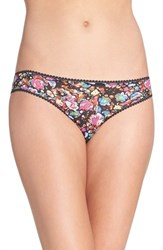 Ongossamer Women's On Gossamer 'Triple Twist' Bikini Marbled Floral Print