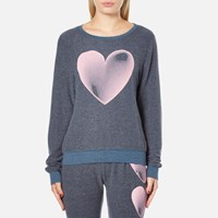 Wildfox Couture Women's Faded Love Baggy Beach Sweatshirt After Midnight Blue