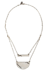 Pamela Love Sterling Silver Chasm Necklace