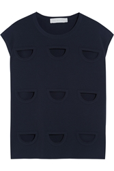 Stella Mccartney Cutout Jersey Crepe Top
