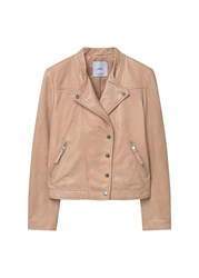 Mango Leather Jacket Pink