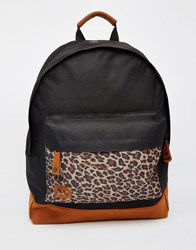 Mi Pac Leopard Backpack Bk1 Black 1