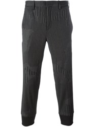 Neil Barrett Tapered Tailored Trousers Grey