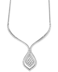 Wrapped In Love Diamond Statement Necklace 1 1 2 Ct. T.W. 14K White Gold