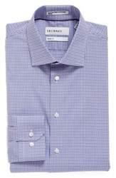 Calibrate Men's Big And Tall Trim Fit Non Iron Check Stretch Dress Shirt Purple Petunia