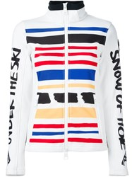 Rossignol Striped Fitted Puffer Jacket White