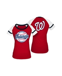5Th And Ocean Women's Washington Nationals Athletic Baseball T Shirt Red