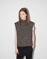 Etoile Isabel Marant Haway Mottled Knit Black