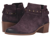 Clarks Breccan Shine Aubergine Suede Women's Pull On Boots Purple
