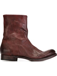 The Last Conspiracy Zip Ankle Boots Red