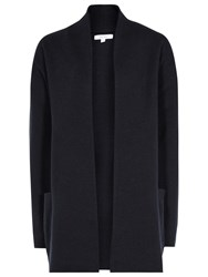 Reiss Hettie Long Lined Cardigan Night Navy