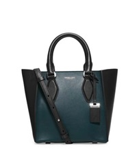 Michael Kors Gracie Small Two Tone Leather Tote Peacock
