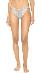 Only Hearts Club So Fine Lace Thong Silver Blue
