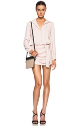 Jay Ahr Stretch Crepe Satin Romper In Pink