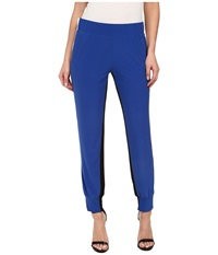 Kamalikulture By Norma Kamali Spliced Side Stripe Jog Pants True Blue Off White Black Women's Casual Pants