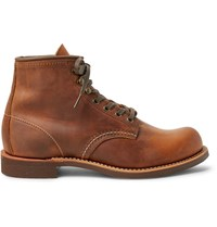 Red Wing Shoes Blacksmith Oil Tanned Leather Boots Brown