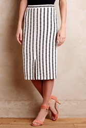 Maeve Vert Stripe Pencil Skirt Blue Motif
