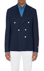 Isaia Men's Double Breasted Cortina Sportcoat Navy