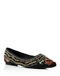 Alice Olivia Lenora Beaded Pointed Flats Multi