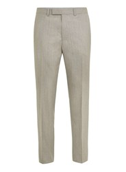 Topman Limited Edition Stone Skinny Fit Suit Trousers Cream
