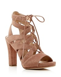 Via Spiga Collette High Heel Lace Up Sandals Desert