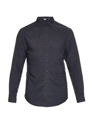 Cerruti Point Collar Wool Shirt