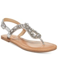 Dolce By Mojo Moxy Rosary Flat Sandals Women's Shoes Silver