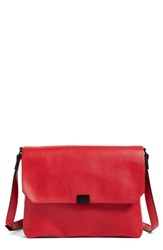 Phase 3 Faux Leather Crossbody Bag Red Red Pepper