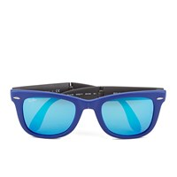 Ray Ban Folding Wayfarer Sunglasses Matte Blue 50Mm