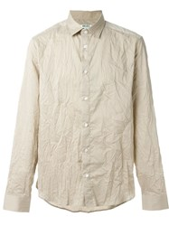 Kenzo Wrinkled Shirt Nude And Neutrals