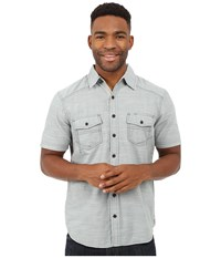 Ecoths Soren Short Sleeve Shirt Silver Blue Men's Short Sleeve Button Up