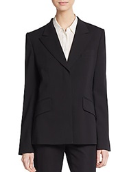 Rena Lange Crisscross Stretch Wool Blazer Black