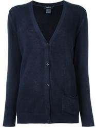 Avant Toi V Neck Cardigan Blue
