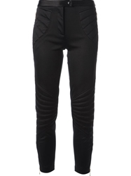 Moschino Cheap And Chic Ribbed Knee Trousers Black