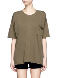 Rag And Bone 'The Big Tee' Pocket Oversized Cotton T Shirt Green