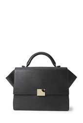Forever 21 Buckled Faux Leather Satchel