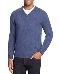 Bloomingdale's The Men's Store At Cashmere V Neck Sweater Dusty Light Blue
