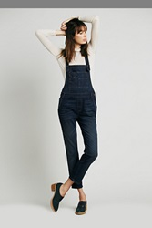 Free People Washed Denim Dungarees