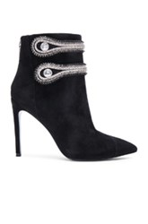 Pierre Balmain Embellished Suede Booties In Black