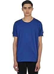 J.W.Anderson Strapped Round Neck T Shirt Blue