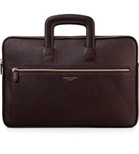 Aspinal Of London Connaught Saffiano Leather Document Case Brown