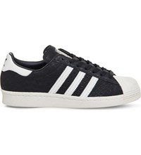 Adidas Superstar 80S Snake Effect Trainers Utility Black White