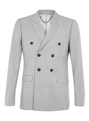 Topman Limited Edition Light Grey Double Breasted Suit Jacket
