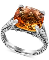 Effy Sunset By Citrine Ring 6 7 8 Ct. T.W. In Sterling Silver