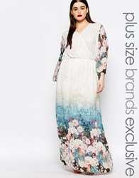 Truly You Floral Border Print Maxi Dress Multi