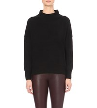 French Connection Ziggy Wool And Cotton Blend Jumper Black