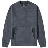 Stone Island Shadow Project Garment Dyed Nylon Metal Crew Grey