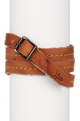 Frye Campus Wrap Leather Cuff Brown