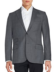 J. Lindeberg Solid Long Sleeve Woolen Sportcoat Grey